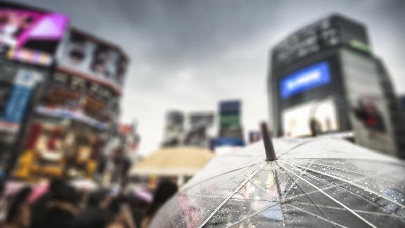 雨に煙る東京・渋谷