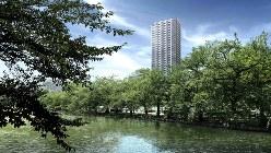 「Brillia Tower 上野池之端」外観完成予想CG