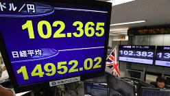 国民投票で英国のEU離脱が決まり、1万5000円を割った日経平均株価=2016年6月24日午後3時、内藤絵美撮影