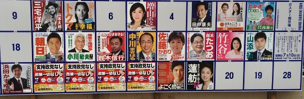 参議院 選挙 東京 候補 者