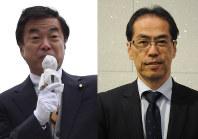 松沢成文参院議員(左)と古賀茂明氏