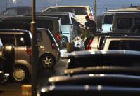 地震後、多くの被災者が長期間の車中泊を強いられた=須賀川理撮影