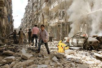 ポケモンGO:「シリアを助けて」...