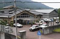 事件のあった津久井やまゆり園=相模原市緑区で2016年7月26日午前8時4分、徳野仁子撮影