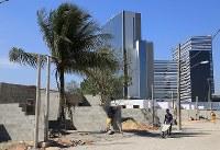 集落跡地の端に作られている新しい住居。7月下旬にここに住み続けたいと願った20世帯が移り住む=リオデジャネイロで、梅村直承撮影