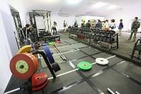 トレーニングスペース=リオデジャネイロ市内で2016年7月29日、山本晋撮影