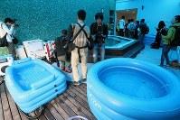 リオ五輪に出場する日本選手のための施設「ハイパフォーマンスサポート・センター」に用意された入浴設備=リオデジャネイロ市内で2016年7月29日、山本晋撮影