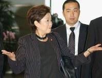 2003年小泉内閣で環境大臣として初入閣を果たす=2003年9月22日撮影