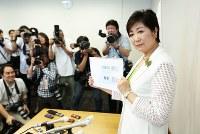 2016年東京都知事選に立候補の意思を表明。自民党から推薦を得られない中での立候補となった=東京都千代田区で2016年6月29日、小出洋平撮影