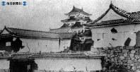 濃尾地震後の名古屋城=1891(明治24)年10月