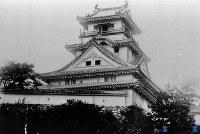高知市・高知城・天守閣=1936年5月撮影