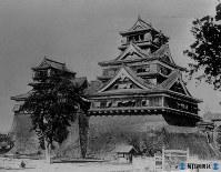 焼失前の熊本城天守閣
