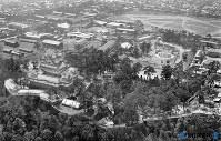 姫路城=兵庫県姫路市で1936(昭和11)年、毎日新聞社機から撮影
