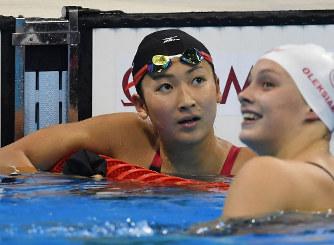 五輪競泳:女子100mバタフライ ...