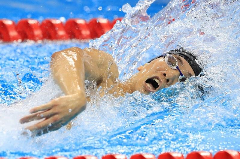 リオ五輪 競泳男子800mリレー:...