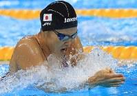 競泳女子200メートル平泳ぎ決勝を制した金藤理絵=リオデジャネイロの五輪水泳競技場で2016年8月11日、梅村直承撮影