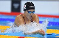 競泳女子200メートル平泳ぎ決勝で優勝した金藤理絵=リオデジャネイロの五輪水泳競技場で2016年8月11日、和田大典撮影