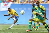 リオ五輪サッカー男子1次リーグの南アフリカ戦に出場したブラジル主将のネイマール=ゲッティ
