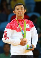 柔道の男子60キロ級3位となり、銅メダルをを獲得した高藤直寿=2016年8月6日、小川昌宏撮影