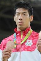 柔道の男子81キロ級で銅メダルを獲得した永瀬貴規=2016年8月9日、梅村直承撮影