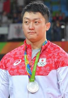 柔道の男子100キロ超級で銀メダルを獲得した原沢久喜=2016年8月12日、和田大典撮影