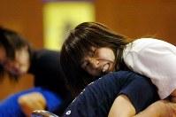 レスリング選手の吉田沙保里(綜合警備保障)=2007年3月15日、小林努撮影