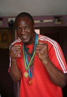 ボクシング男子ヘビー級3連覇、フェリックス・サボン(キューバ) =ゲッティ