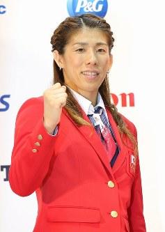 レスリング女子53キロ級3連覇、吉田沙保里=長谷川直亮撮影