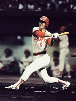 広島カープが初の日本一 打点王をガッチリとキープ、貢献度NO.1の山本浩二=1979年9月撮影