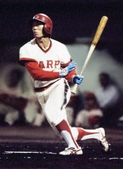 広島カープが初の日本一 33試合連続ヒットを達成、盗塁王とチームに貢献した高橋慶彦=1979年9月撮影
