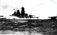 全力予行運転の戦艦大和=1941年10月撮影
