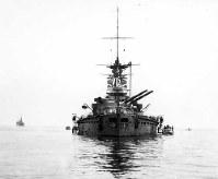 停泊中の戦艦・長門 =1937年9月撮影