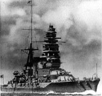 進水式当時の戦艦・陸奥=1920年撮影