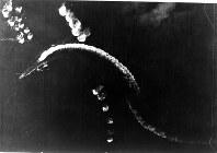ミッドウェー海戦・攻撃を受ける空母=1942年6月5日撮影