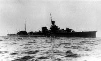 巡洋艦・夕張=1935年撮影