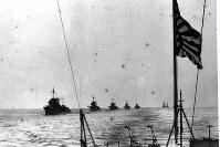 第12駆逐隊の先頭は叢雲(吹雪型)一等駆逐艦=1934年10月撮影