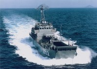 輸送艇「1号」型。写真は2002「輸送艇2号」=海上自衛隊提供
