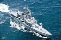 練習艦3513「しまゆき」=海上自衛隊提供