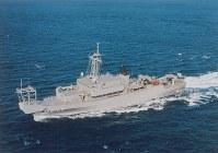 海洋観測艦5105「にちなん」=海上自衛隊提供