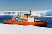 砕氷艦「しらせ」5003「しらせ」=海上自衛隊提供