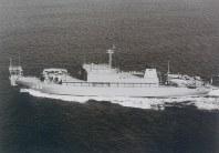 敷設艦482「むろと」=海上自衛隊提供