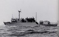 試験艦6101「くりはま」=海上自衛隊提供