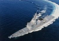 試験艦6102「あすか」=海上自衛隊提供