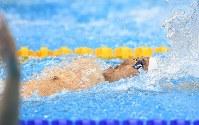 競泳男子100メートル背泳ぎ(知的障害)で銅メダルを獲得した津川拓也=リオデジャネイロの五輪水泳競技場で2016年9月8日、徳野仁子撮影