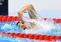 【リオデジャネイロ・パラリンピック】競泳男子50メートルバタフライS6決勝、5位に入った小山恭輔=リオデジャネイロの五輪水泳競技場で2016年9月9日、徳野仁子撮影
