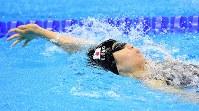 【リオデジャネイロ・パラリンピック】競泳女子100メートル背泳ぎS11、8位に終わった小野智華子=リオデジャネイロの五輪水泳競技場で2016年9月9日、徳野仁子撮影