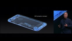 iPhoneとしては初めて、IP67という基準の防水・防塵に対応した