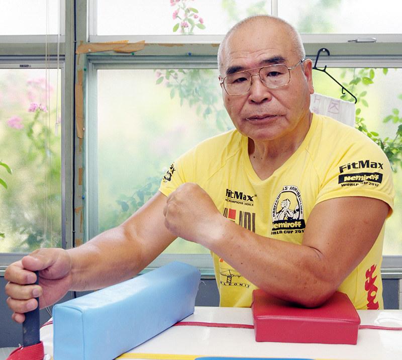世界 一 レスリング アーム