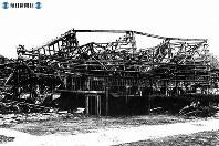 【長崎】三菱重工精錬所の被爆跡=1945(昭和20)年8月