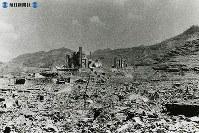 【長崎】荒涼とした浦上天主堂周辺=1945(昭和20)年8月下旬~9月中旬